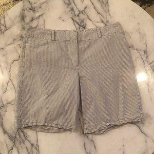 Ann Taylor stripe seersucker classic shorts